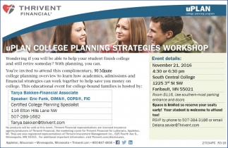 uPLAN College Planning Strategies Workshop