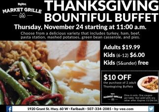 Thanksgiving Bountiful Buffet