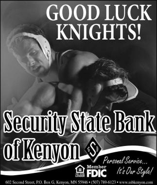 Good Luck Knights!