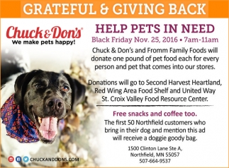 Help Pets in Need, Chuck and Don's