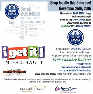 Shop locally this Saturday! November 26th, 2016