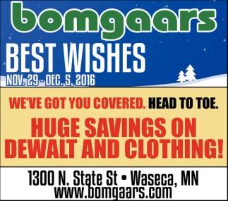 Huge Savings on Dewalt and Clothing