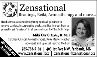 Readings, Reiki, Aromatherapy and more