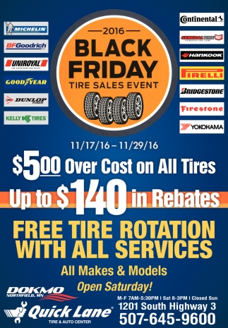 Black Friday Tire Sales Event