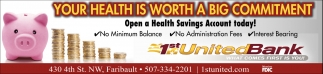 Open a Health Savings Account today!