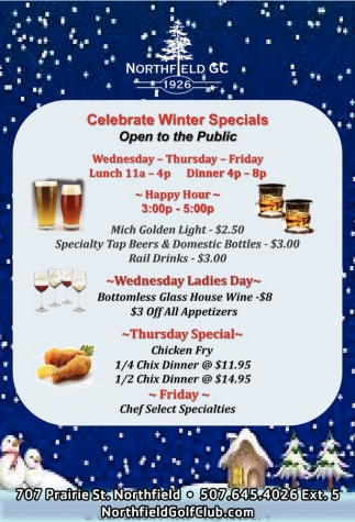 Celebrate Winter Specials