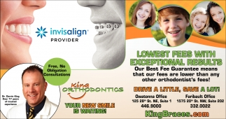 Lowest fees, exceptional results, King Orthodontics, Rochester, MN