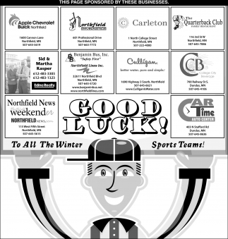 Good Luck To All The Winner Sports Teams!, Northfield News , Northfield, MN