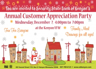 Annual Customer Appreciation Party