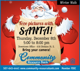 Free pictures with Santa!