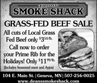 Grass Fed Beef Sale