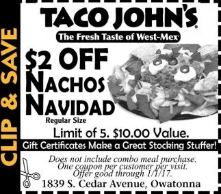 $2 Off Nachos Navidad