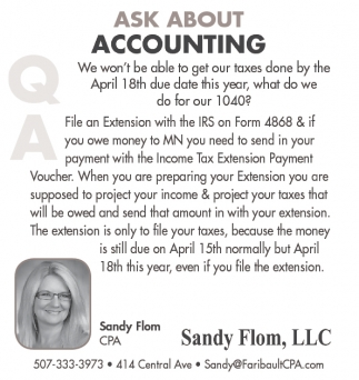 ASK ABOUT ACCOUNTING
