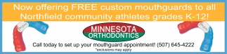 Free custom mouthguards to all Northfield community athletes grades K-12