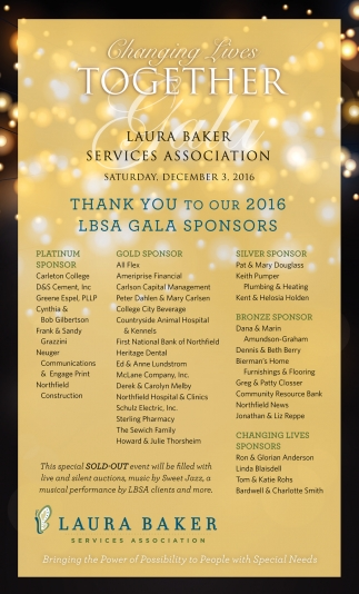 Thank you to our 2016 LBSA Gala Sponsors