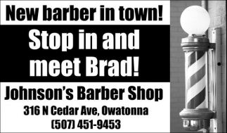 Stop in and meet Brad!