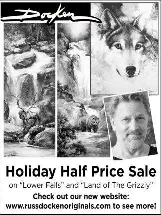 Holiday Half Price Sale, Russ Docken Gallery