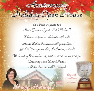 Anniversary Holiday Open House