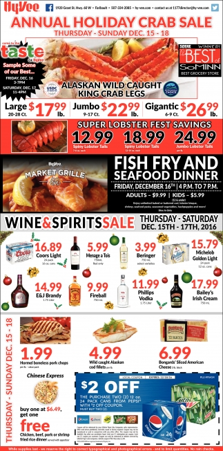 Annual Holiday Crab Sale