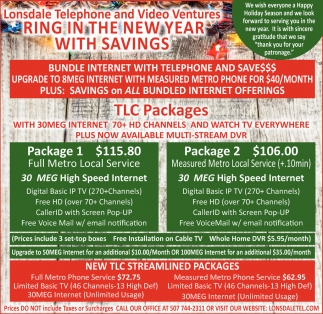 TLC Packages