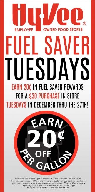 Fuel Saver Tuesdays
