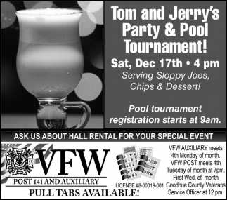 Tom and Jerry's Party & Pool Tournament!