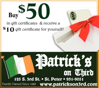 Buy $50 in gift certificates & receive a $10 gift certificate for yourself!