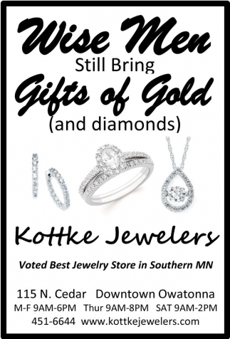 Gifts of Gold, Kottke Jewelers, Owatonna, MN