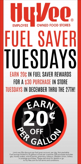 Fuel Saver Tuesdays