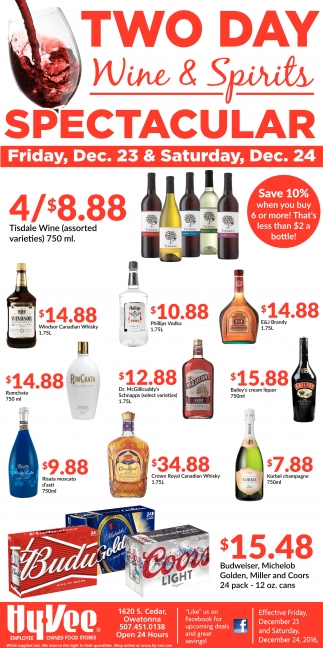 Two Day Wine & Spirits Spectacular