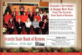 Seasons greetings happy new year security state bank of kenyon seasons greetings happy new year security state bank of kenyon kenyon mn m4hsunfo