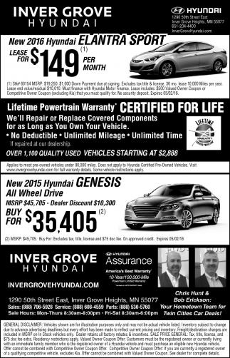 New 2016 Hyundai ELANTRA SPORT