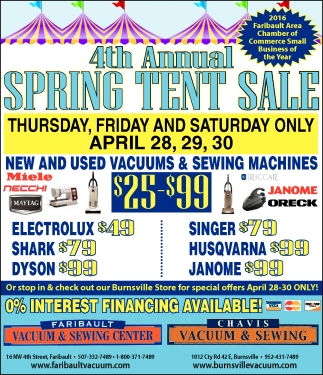 4th Annual  SPRING TENT SALE