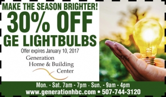 30% off ge lightbulbs