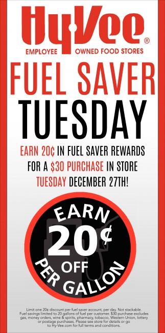 Fuel Saver Tuesday
