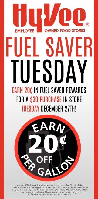 Fuel Saver Tuesday