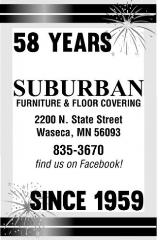 Ads For Suburban Furniture Floor Covering In Waseca Mn