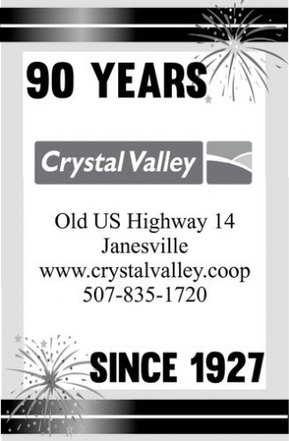 90 years since 1927, Crystal Valley, Lake Crystal, MN
