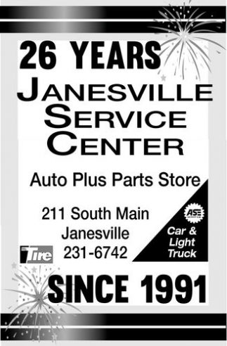 26 years since 1991, Janesville Service Center