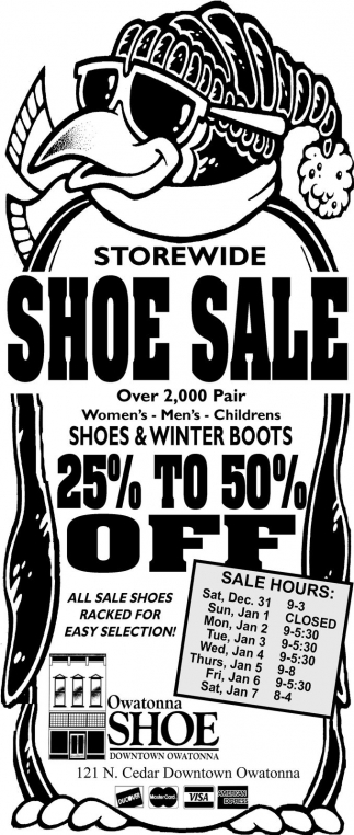 Storewide Shoe Sale