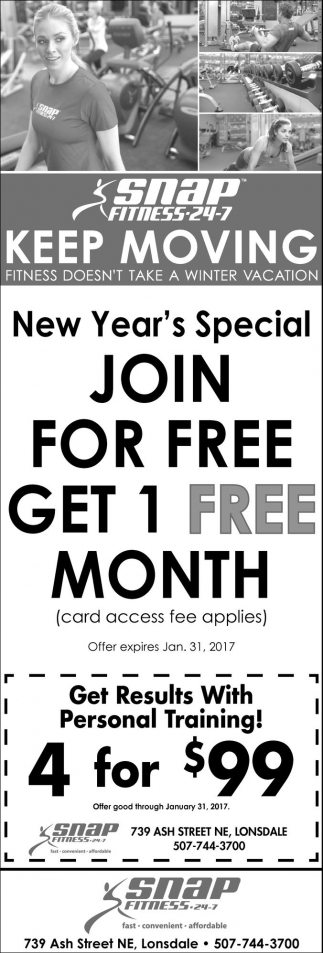 Join for free get 1 free month