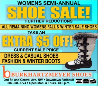 Womens Semi Annual Shoe Sale