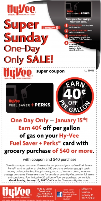 Super Sunday One-Day Only Sale!