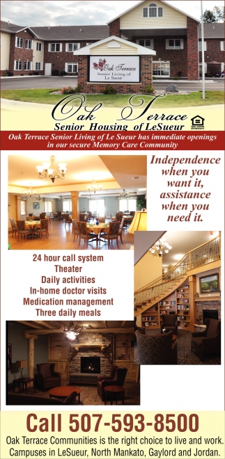 Has immediate openings in our secure Memory Care Community