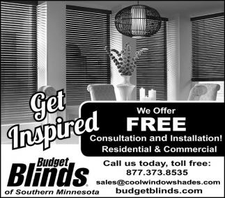 Free Consultation and Installation!, Budget Blinds, MN