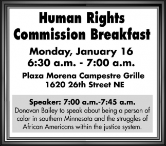 Human Rights Commission Breakfast
