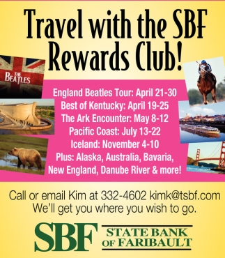 Travel with the SBF Rewards Club!