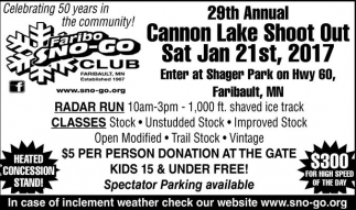 29th Annual Cannon Lake Shoot Out