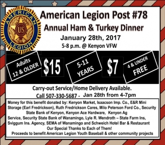 Annual Ham & Turkey Dinner
