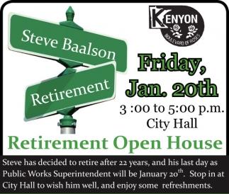 Steve Baalson Retirement